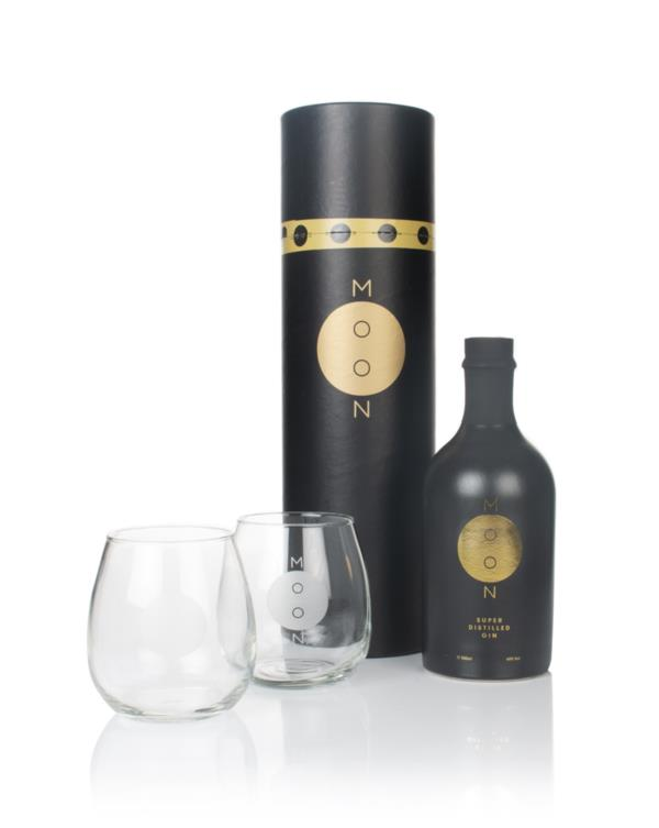 Moon Super Distilled Gin Gift Pack with 2x Glasses Gin