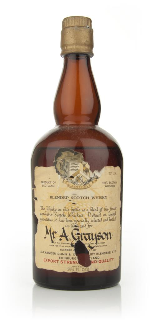 Alexander Dunn Blended Scotch Whisky - 1960s Blended Whisky