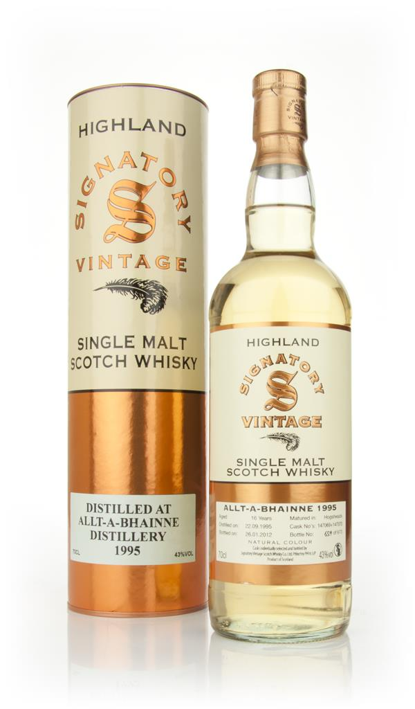 Allt-a-Bhainne 16 Year Old 1995 - Un-Chillfiltered (Signatory) Single Malt Whisky