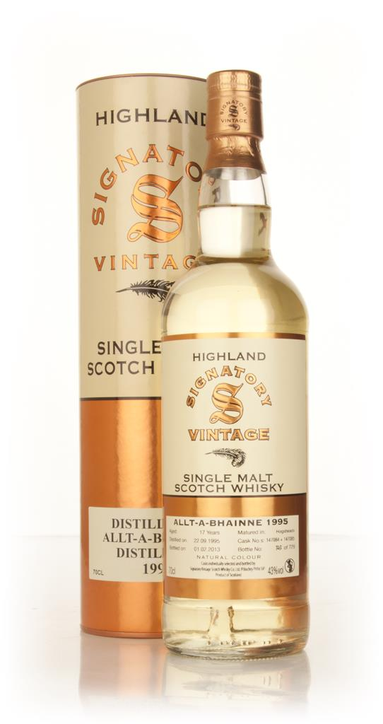 Allt-a-Bhainne 17 Year Old 1995 (casks 147084+147085) (Signatory) Single Malt Whisky