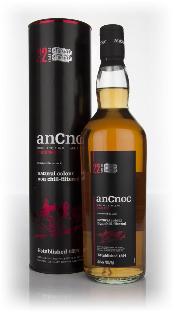 anCnoc 22 Year Old Single Malt Whisky