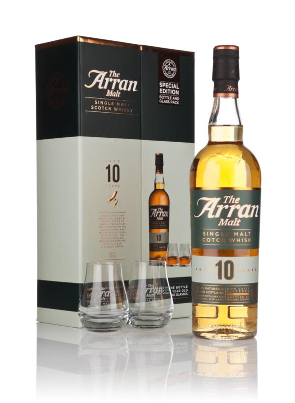 Arran 10 Year Old with 2 Glasses Single Malt Whisky