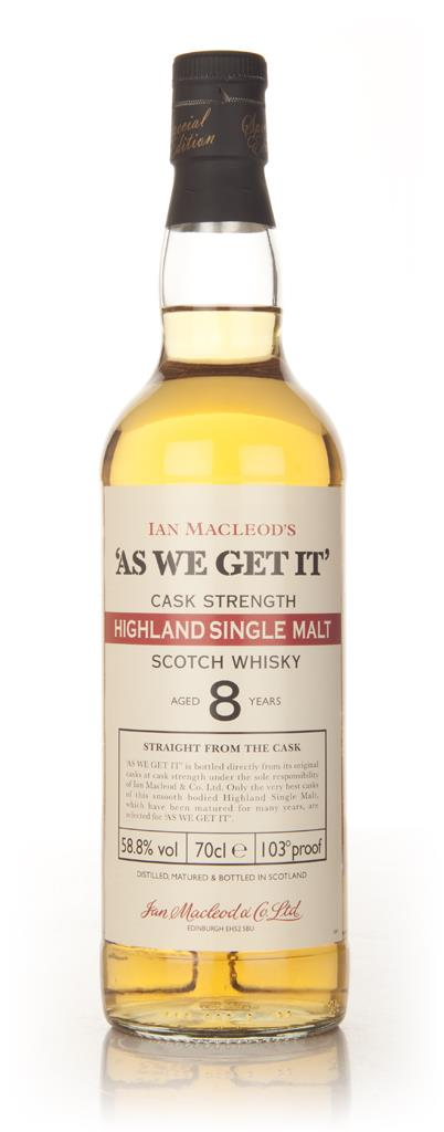 Highland 8 Year Old - As We Get (Ian Macleod) Single Malt Whisky