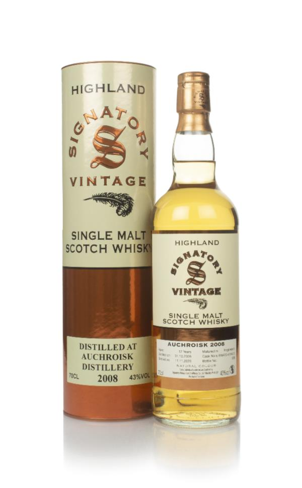 Auchroisk 12 Year Old 2008 (casks 816420 & 816423) - Signatory Single Malt Whisky