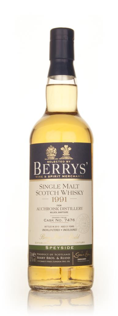 Auchroisk 21 Year Old 1991 (cask 7476) (Berry Bros. & Rudd) Single Malt Whisky