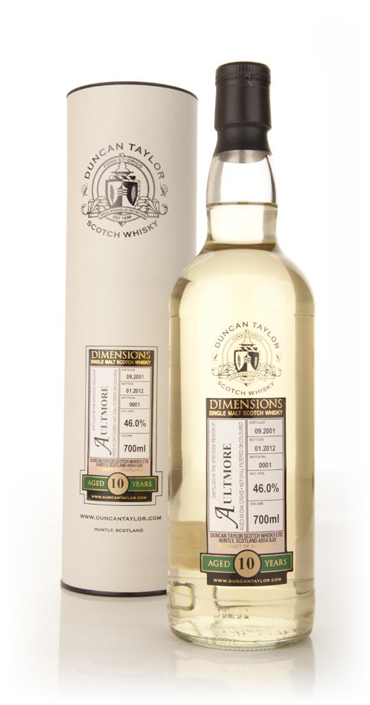 Aultmore 10 Year Old 2001 - Dimensions (Duncan Taylor) Single Malt Whisky