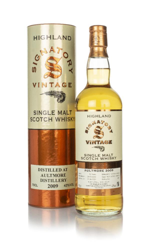 Aultmore 12 Year Old 2009 (casks 303222 & 303225) - Signatory Single Malt Whisky