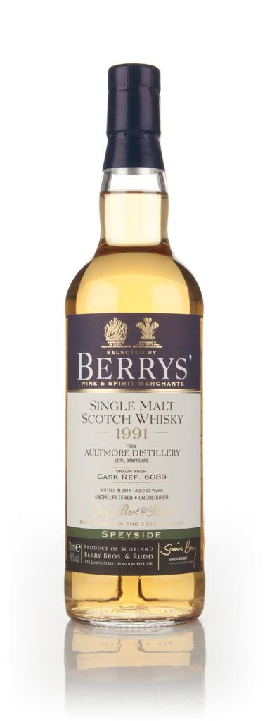 Aultmore 22 Year Old 1991 (cask 6089) (Berry Bros. & Rudd) 3cl Sample Single Malt Whisky