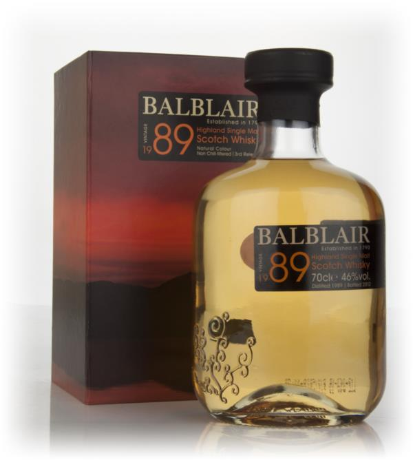 Balblair 1989 3rd Release Single Malt Whisky