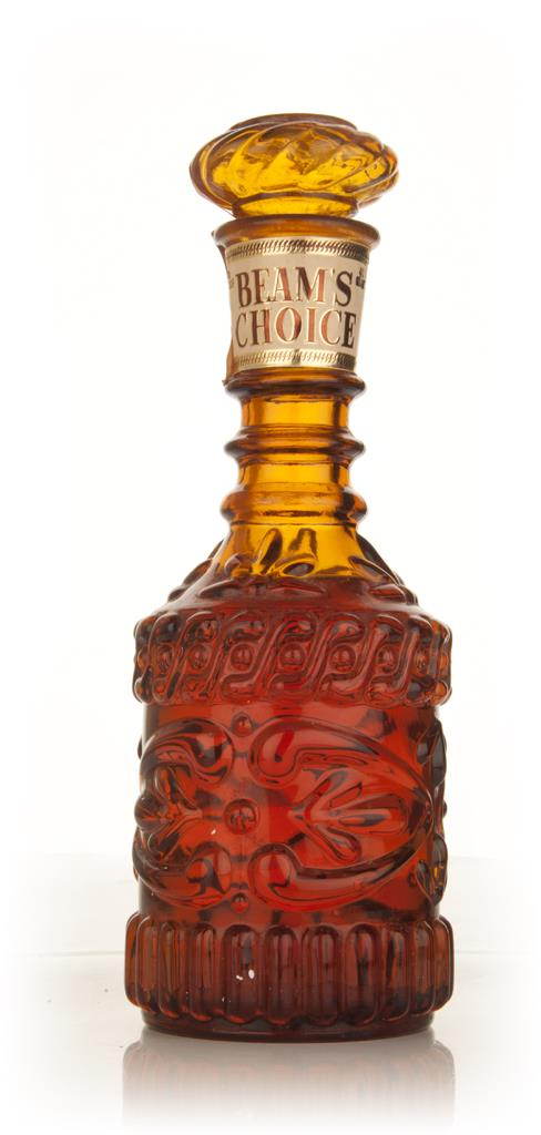 Beams Choice Amber Decanter - 1960s Blended Whiskey