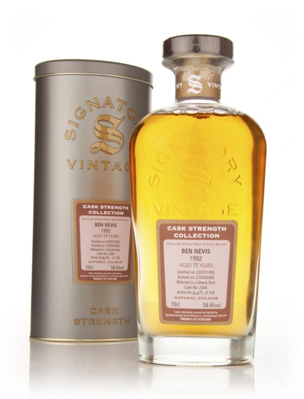 Ben Nevis 15 Year Old 1992 Cask 2304 - Cask Strength Collection (Signa Single Malt Whisky