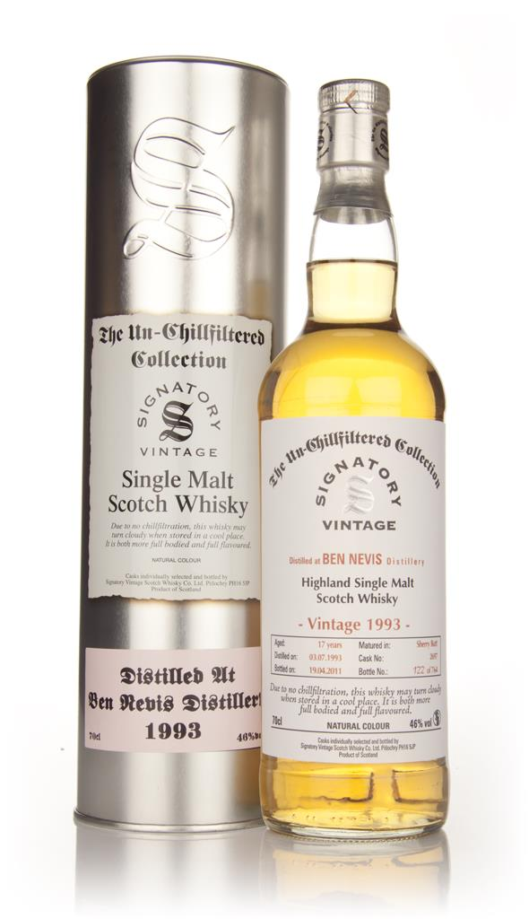 Ben Nevis 17 Year Old 1993 - Un-Chillfiltered (Signatory) Single Malt Whisky
