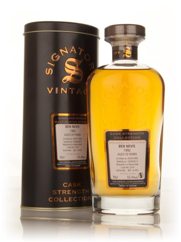 Ben Nevis 20 Year Old 1992 (cask 2314) - Cask Strength Collection (Sig Single Malt Whisky