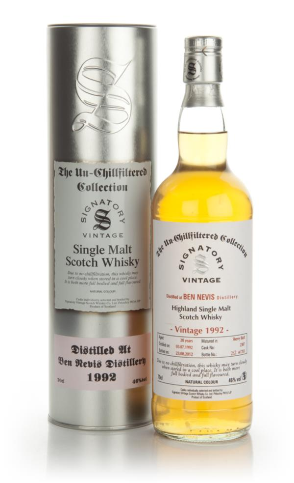 Ben Nevis 20 Year Old 1992 - Un-Chillfiltered (Signatory) Single Malt Whisky