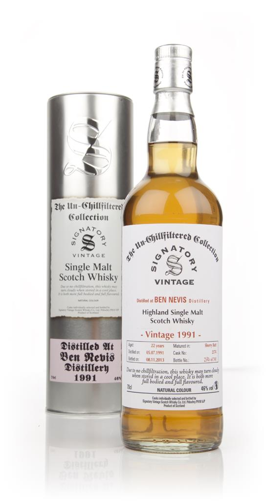Ben Nevis 22 Year Old 1991 (cask 2374) - Un-Chillfiltered (Signatory) Single Malt Whisky