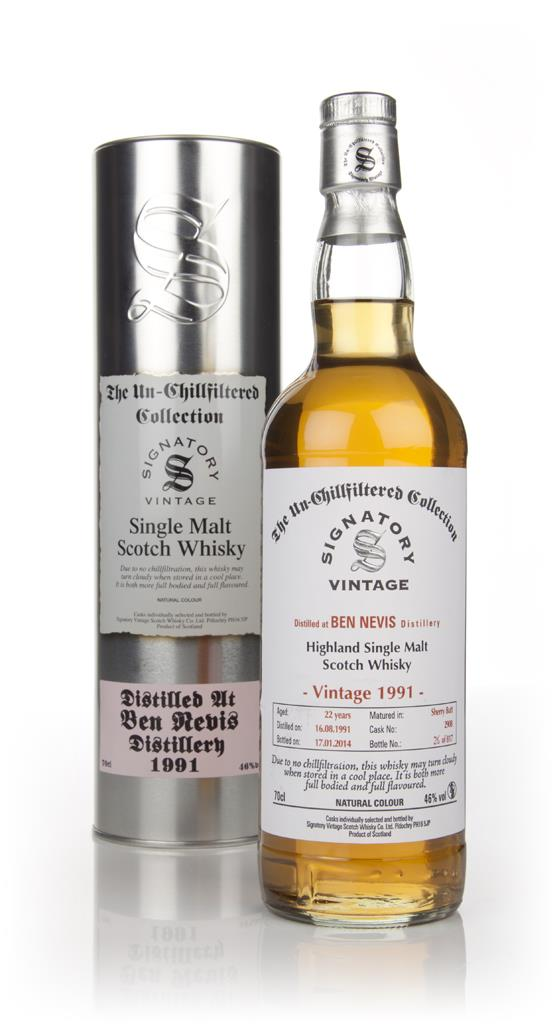 Ben Nevis 22 Year Old 1991 (cask 2908) - Un-Chillfiltered (Signatory) Single Malt Whisky