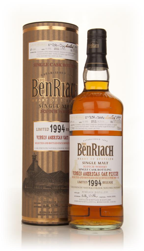 BenRiach 19 Year Old 1994 Virgin American Oak (cask 4386) Single Malt Whisky