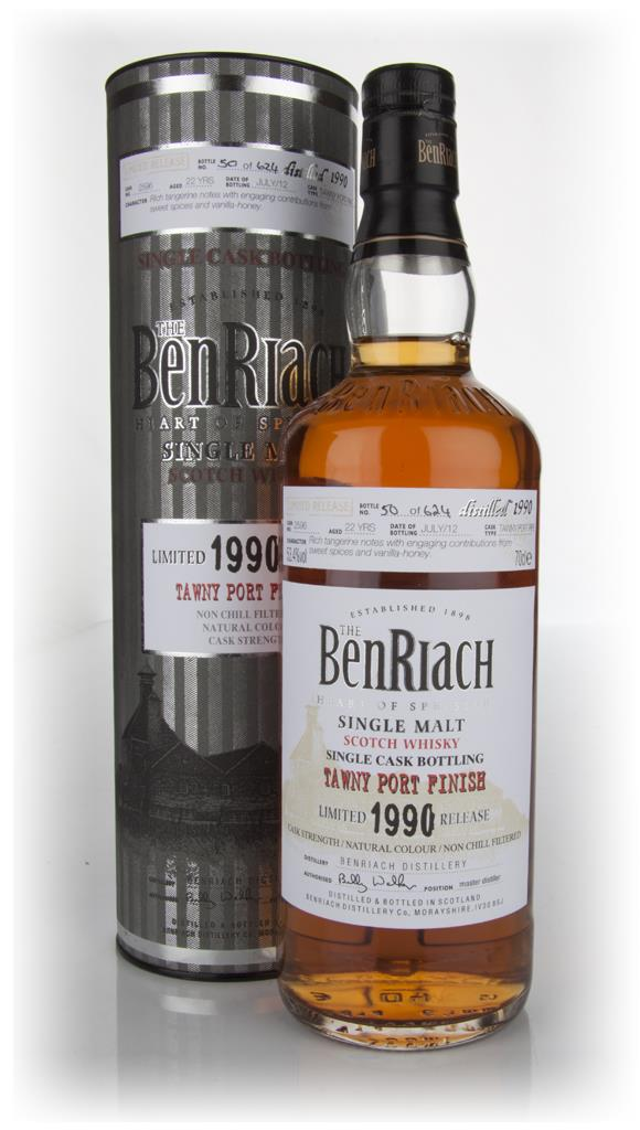 BenRiach 22 Year Old 1990 Tawny Port Pipe Single Malt Whisky