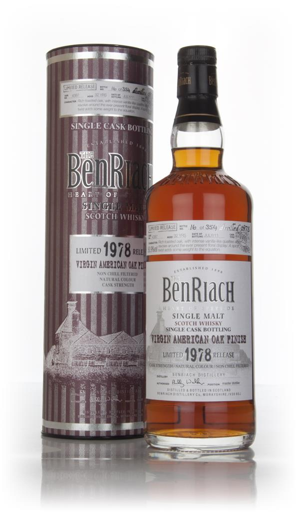BenRiach 32 Year Old 1978 (cask 4387) - Virgin American Oak Finish Single Malt Whisky