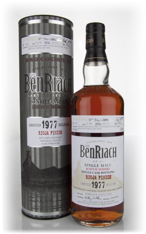 BenRiach 34 Year Old 1977 Rioja Barrel Single Malt Whisky