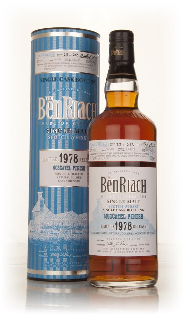 BenRiach 35 Year Old 1978 (cask 1047) - Moscatel Cask Finish Single Malt Whisky