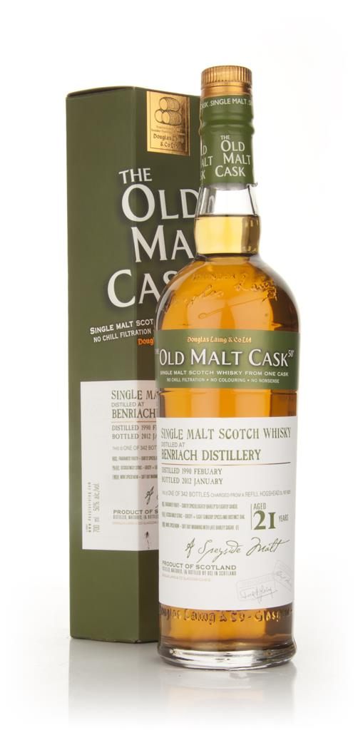 BenRiach 21 Year Old 1990 - Old Malt Cask (Douglas Laing) Single Malt Whisky