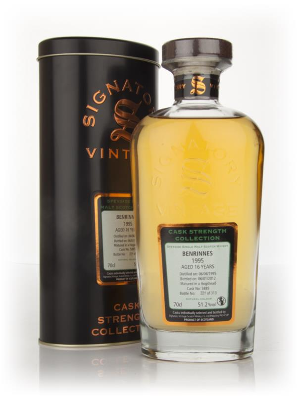 Benrinnes 16 Year Old 1995 - Cask Strength Collection (Signatory) Single Malt Whisky