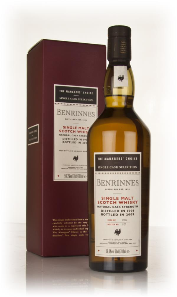 Benrinnes 1996 - Managers Choice Single Malt Whisky