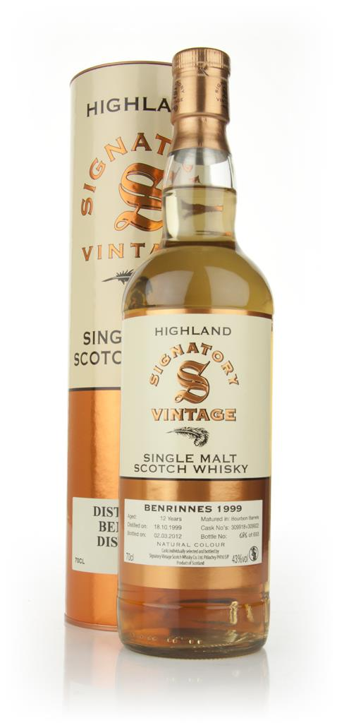 Benrinnes 12 Year Old 1999 (Signatory) Single Malt Whisky