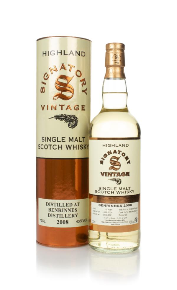 Benrinnes 12 Year Old 2008 (casks 800334 & 800335) - Signatory Single Malt Whisky