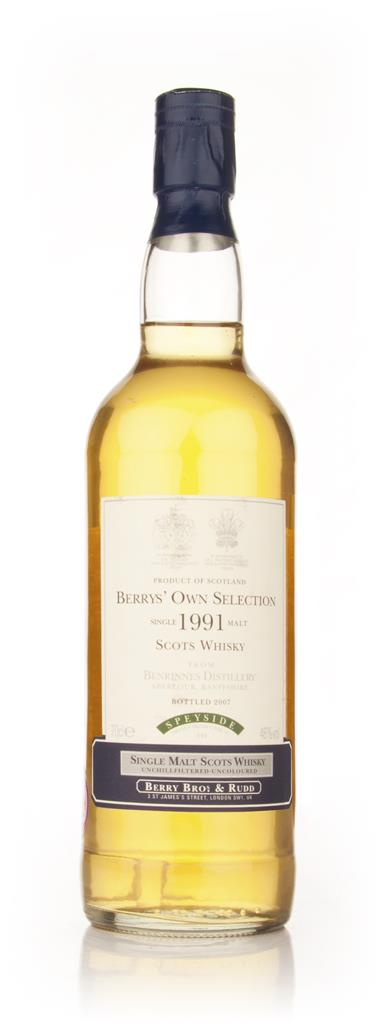Benrinnes 1991 (Berry Brothers and Rudd) Single Malt Whisky