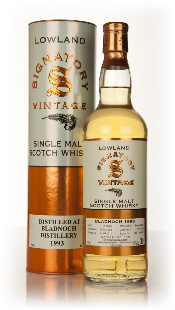 Bladnoch 18 Year Old 1993 (Signatory) Single Malt Whisky