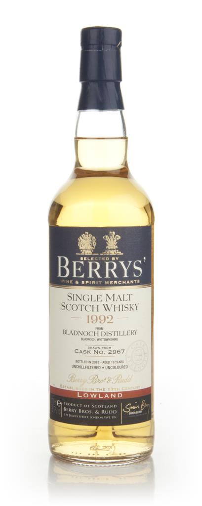 Bladnoch 19 Year Old 1992 - Berry Bros & Rudd Single Malt Whisky