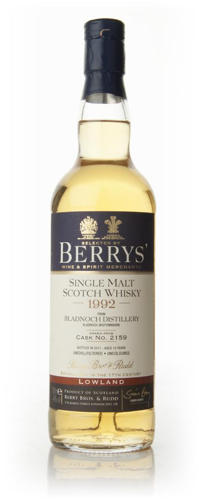 Bladnoch 19 Year Old 1992 - Berry Brothers and Rudd Single Malt Whisky
