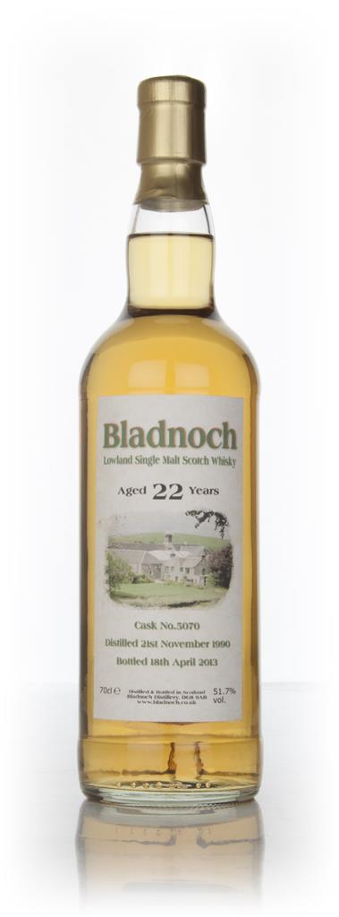 Bladnoch 22 Year Old 1990 (cask 5070) Single Malt Whisky