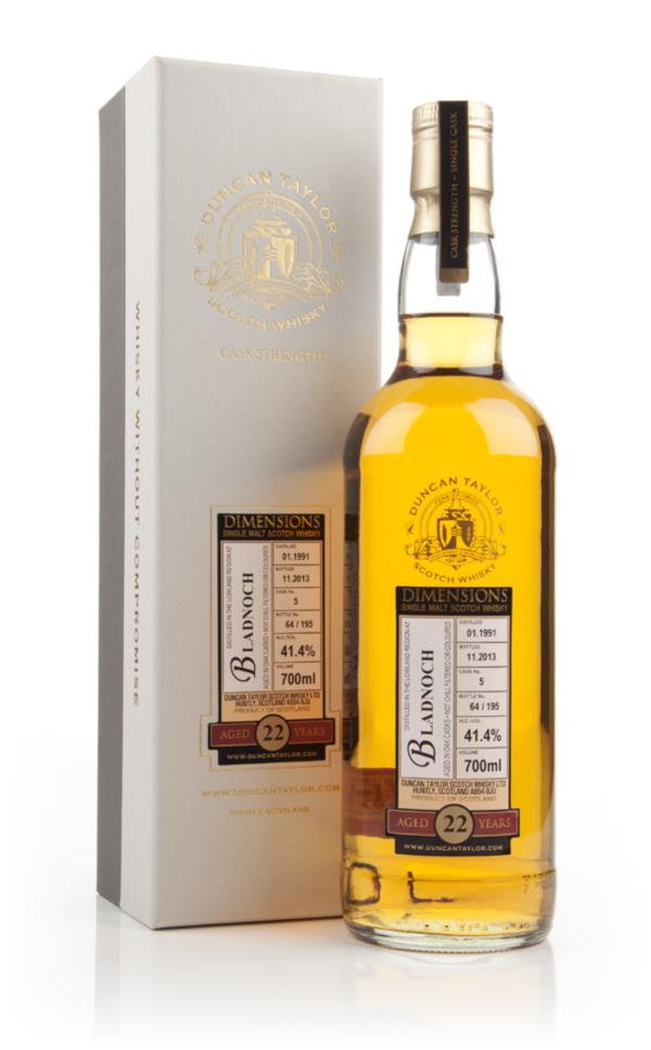 Bladnoch 22 Year Old 1991 (cask 5) - Dimensions (Duncan Taylor) Single Malt Whisky