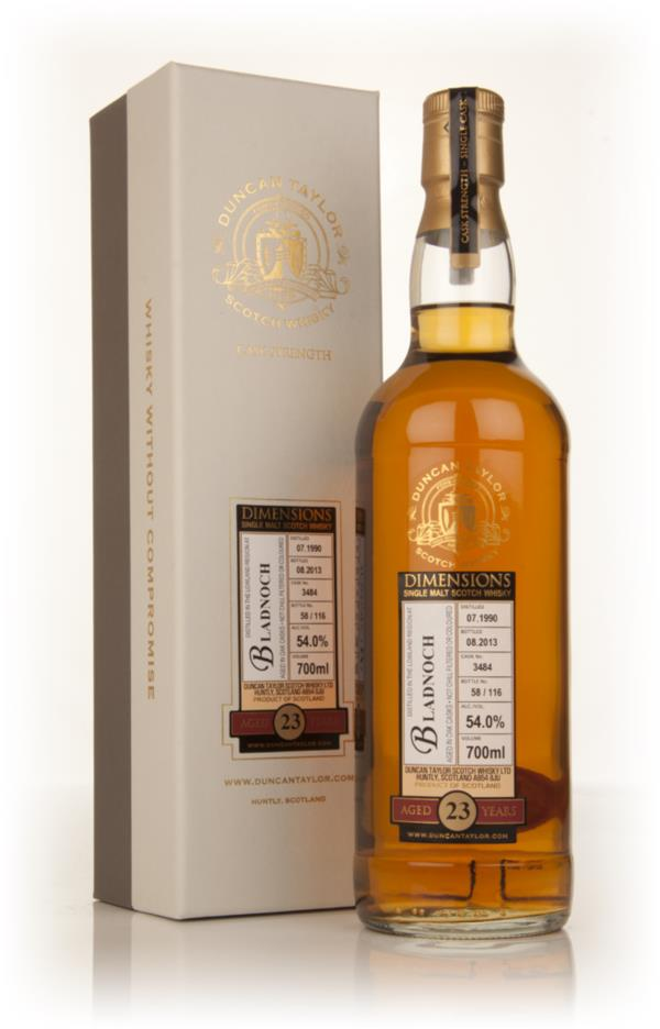 Bladnoch 23 Year Old 1990 (cask 3484) - Dimensions (Duncan Taylor) Single Malt Whisky