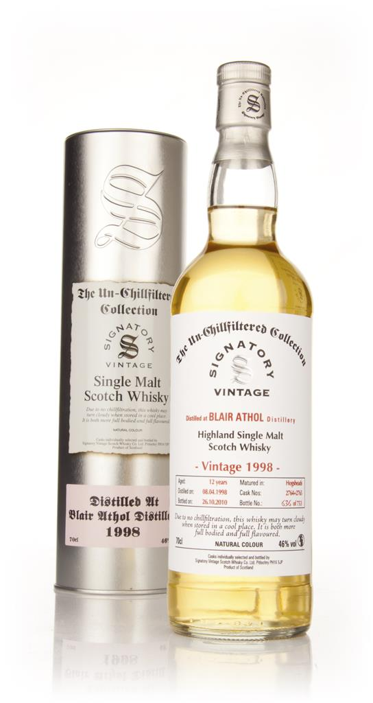 Blair Athol 12 Year Old 1998 - Un-Chillfiltered (Signatory) Single Malt Whisky