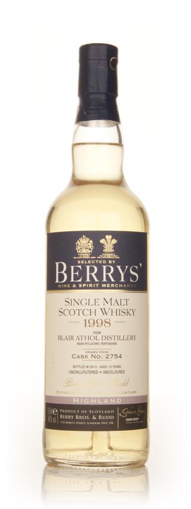 Blair Athol 15 Year Old 1998 (cask 2754) (Berry Bros. & Rudd) Single Malt Whisky