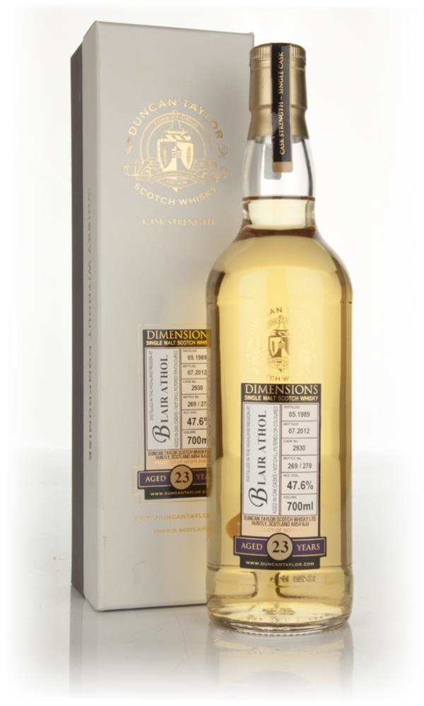 Blair Athol 23 Year Old 1989 Cask 2930 - Dimensions (Duncan Taylor) Single Malt Whisky