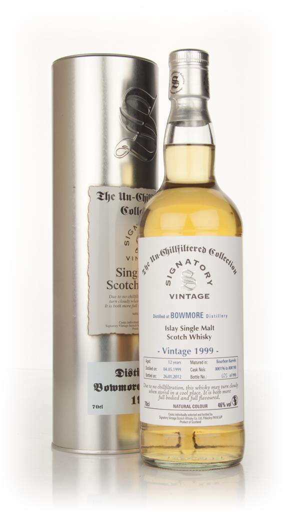 Bowmore 12 Year Old 1999 - Un-Chillfiltered (Signatory) Single Malt Whisky