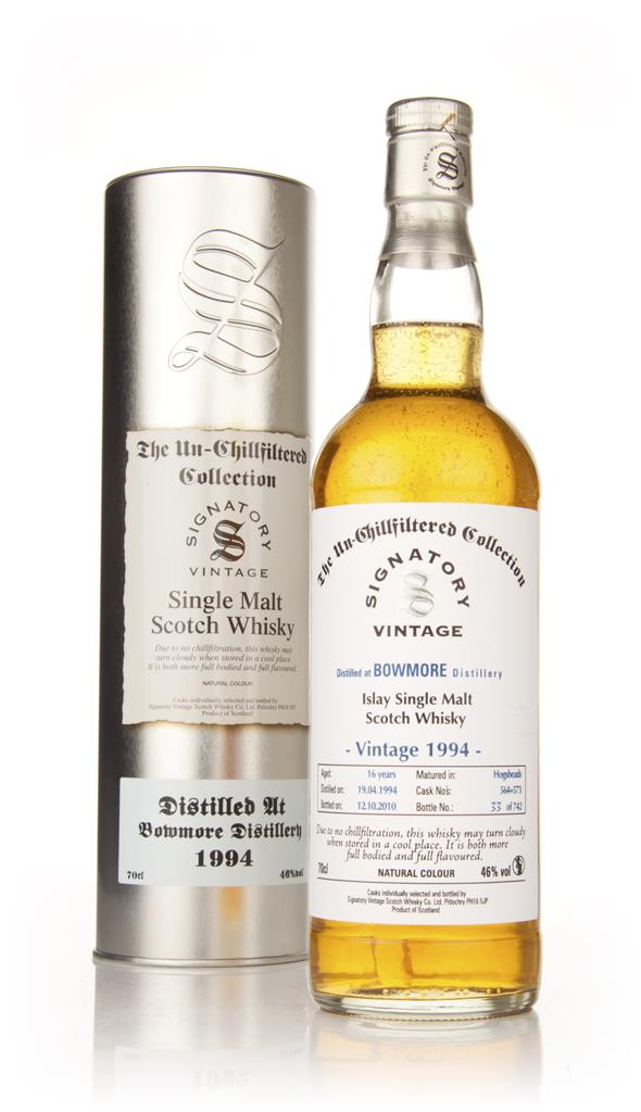 Bowmore 16 Year Old 1994 - Un-Chillfiltered (Signatory) Single Malt Whisky