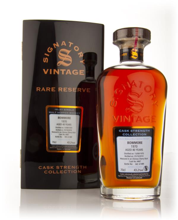 Bowmore 40 Year Old 1970 - Cask Strength Collection Rare Reserve (Sign Single Malt