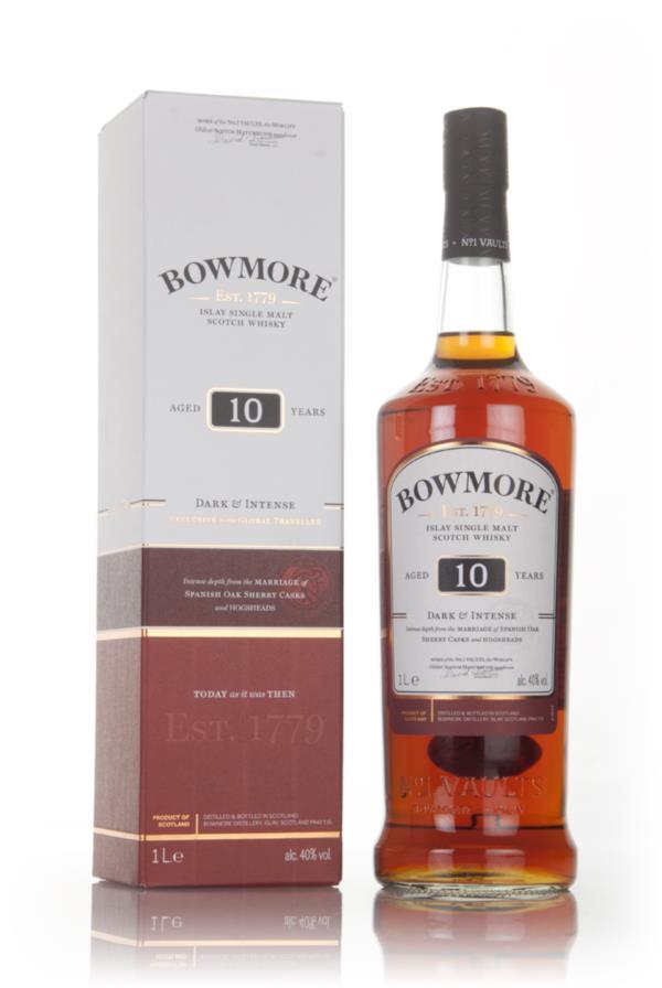 Bowmore 10 Year Old - Dark & Intense 1L Single Malt Whisky
