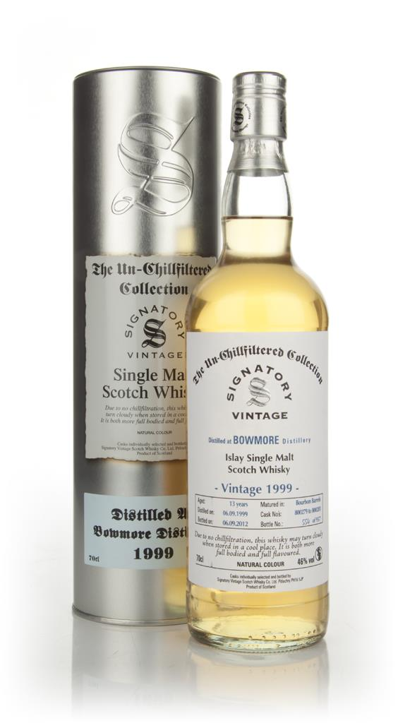 Bowmore 13 Year Old 1999 - Un-Chill Filtered (Signatory) Single Malt Whisky
