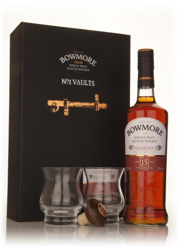 Bowmore 15 Year Old Darkest No.1 Vaults Gift Set Single Malt Whisky