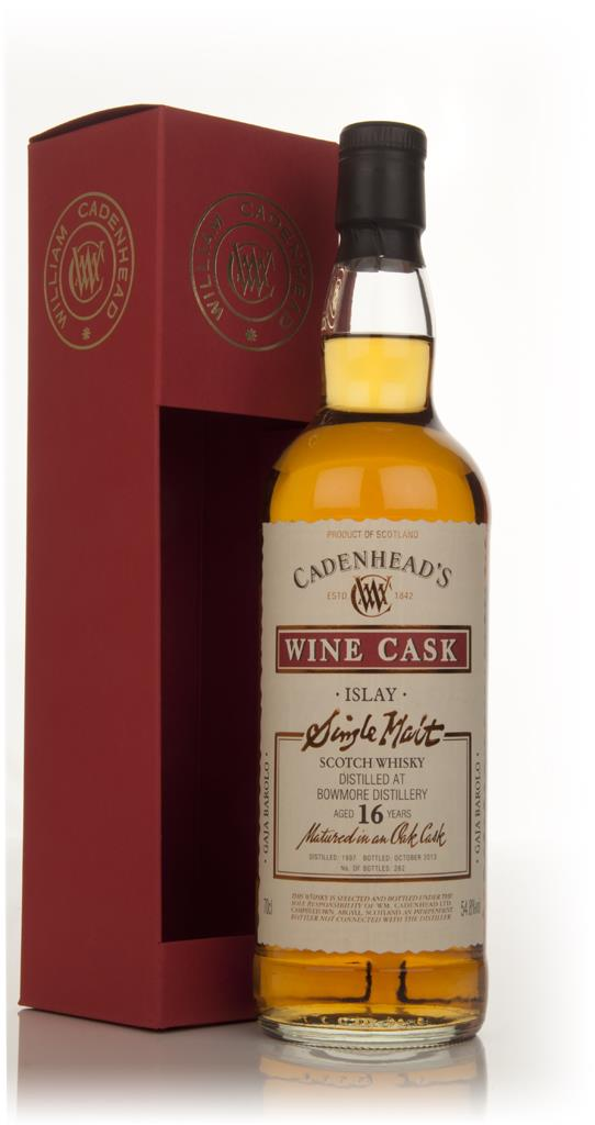 Bowmore 16 Year Old 1997 - Wine Cask (WM Cadenhead) Single Malt Whisky