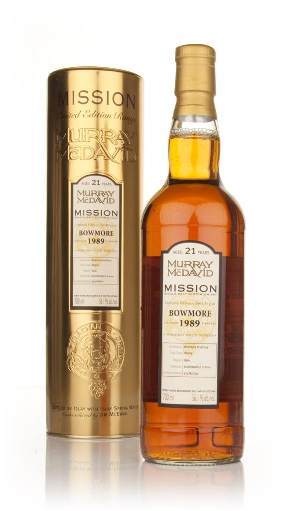 Bowmore 21 Year Old 1989 - Mission (Murray McDavid) Single Malt Whisky