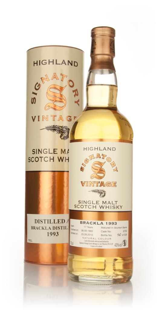 Brackla 17 Year Old 1993 (Signatory) Single Malt Whisky
