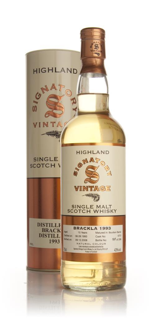 Brackla 15 Year Old 1993 (Signatory) Single Malt Whisky